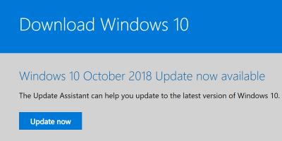 update Microsoft 10